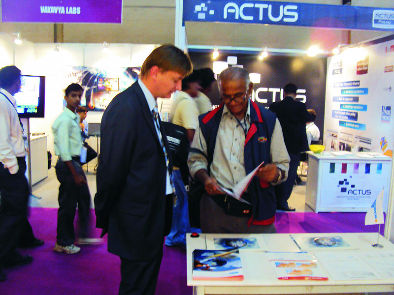 Intersputnik in cooperation with its strategic partner, RSCC, took part in the Broadcast India Show 2010
